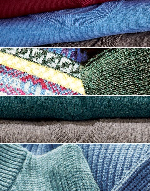 Men's Knitwear. The Natural Properties of Wool and Cotton.