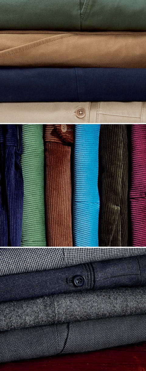 Put Your Best Foot Forward.  Quality Fabrics for Men's Trousers.