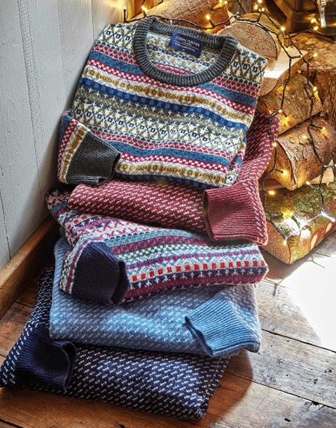 Festive Patterns & Seasonal Knits: Men's Fair Isle and Nordic Jumpers