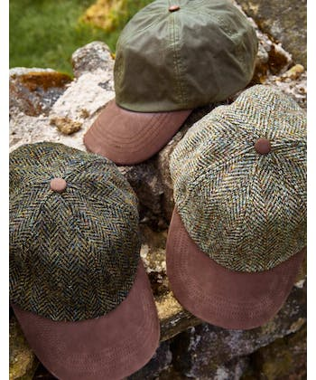 Peaked Cap - Tan Waxed Cotton