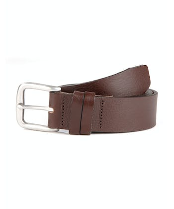 Casual Leather Belt - Brown