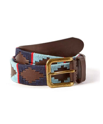 Polo Belt - Sky/Navy