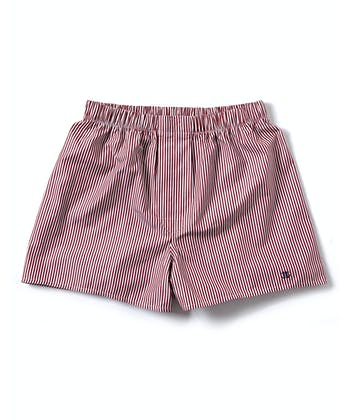 Boxer Shorts - Burgundy Bengal Stripe