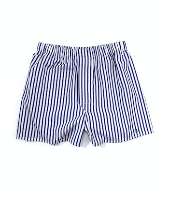 Boxer Shorts - Navy Butcher Stripe