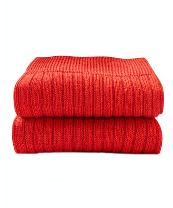 Classic Wool Socks - Half Hose - Red