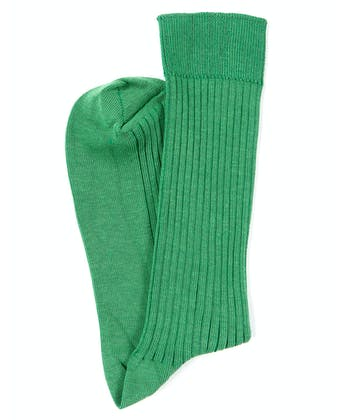 Combed Cotton Socks - Green