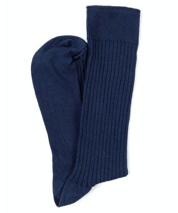Combed Cotton Socks - Navy
