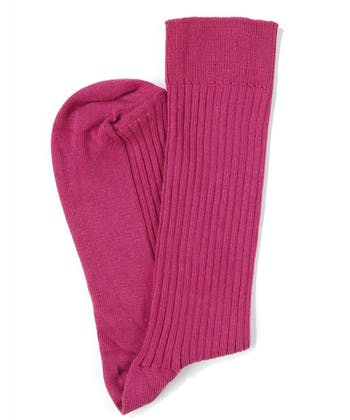 Combed Cotton Socks - Pink