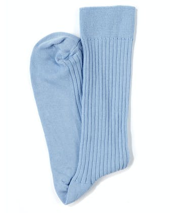 Combed Cotton Socks - Sky