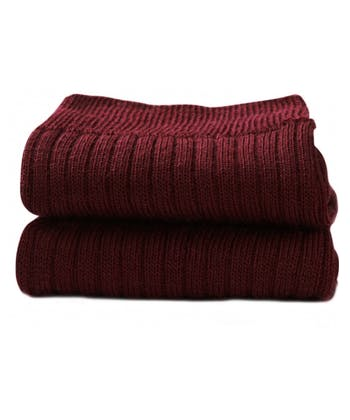 Classic Wool Socks - Half Hose - Wine