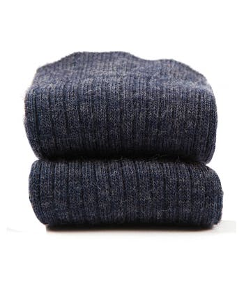 Classic Wool Socks - Half Hose - Denim
