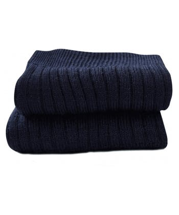 Classic Wool Socks - Ankle - Navy