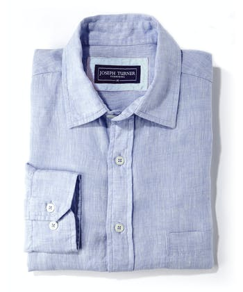 Linen Shirt - Long Sleeve - Light Blue
