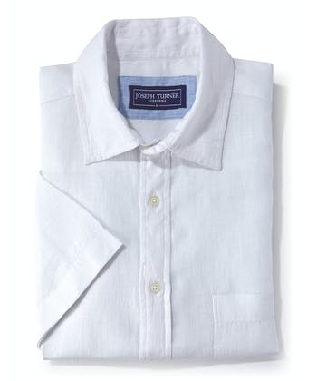 Linen Shirt - Short Sleeve - White