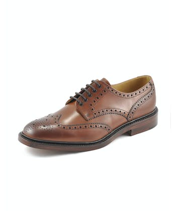 Chester Brogue Shoe - Mahogany