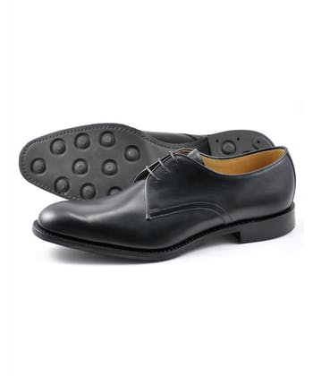 Gable Plain Tie Shoe - Black