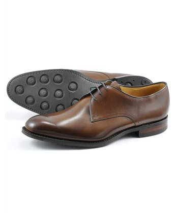 Gable Plain Tie Shoe - Dark Brown
