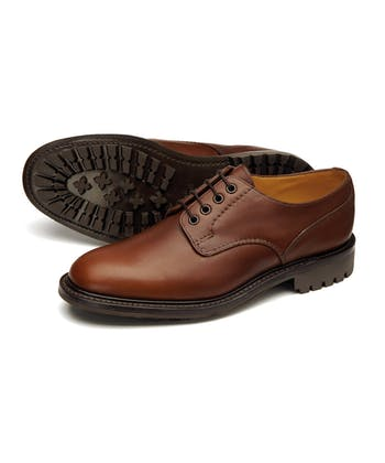 Epsom Waxy Leather Shoe - Dark Brown