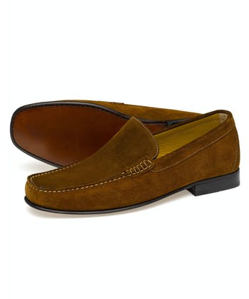 Skipton Moccasin - Brown Suede