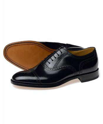 Half Brogue Shoe - Black