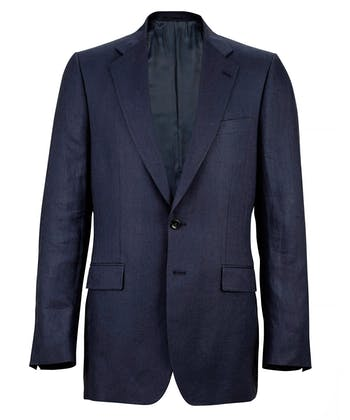 Linen Suit Jacket - Navy