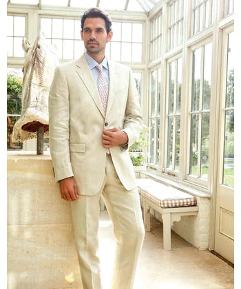 Linen Suit Trousers - Stone