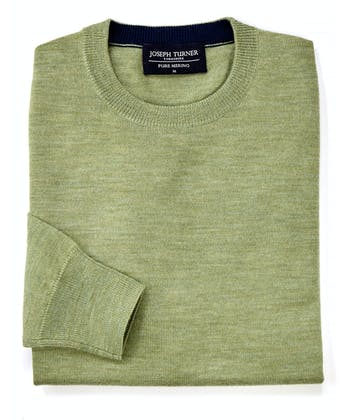 Merino Jumper - Crew Neck - Green