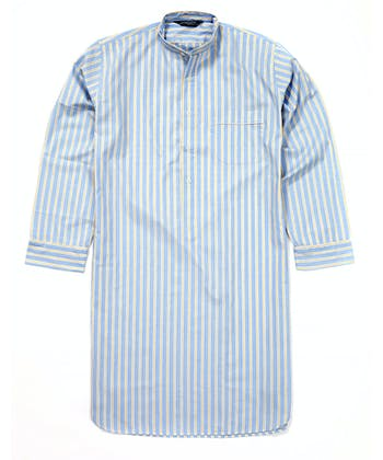Nightshirt - Blue/Yellow (Fine Cotton)