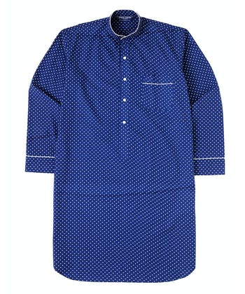 Nightshirt - Navy/White Polkadot (Fine Cotton)