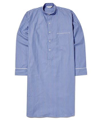 Nightshirt - Blue/White Stripe (Fine Cotton)