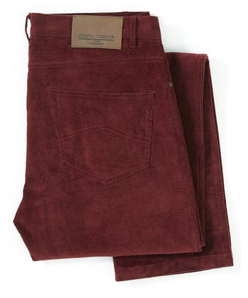 Needlecord Jeans - Burgundy