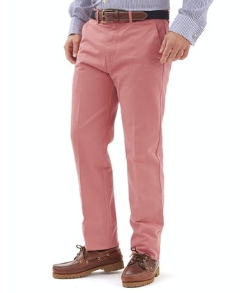 Flat Front Chinos - Dusty Pink