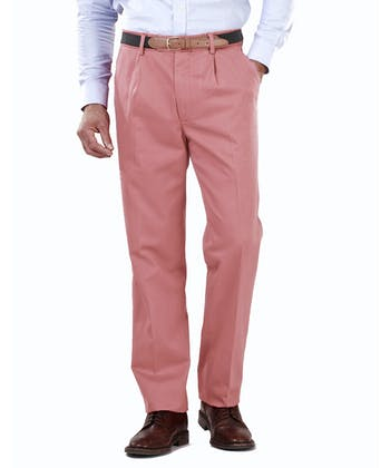 Pleated Front Chinos - Dusty Pink