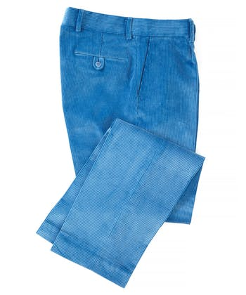 Corduroy Trousers - Bright Blue