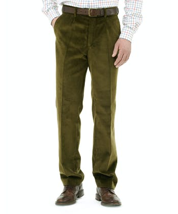 Corduroy Trousers - Moss