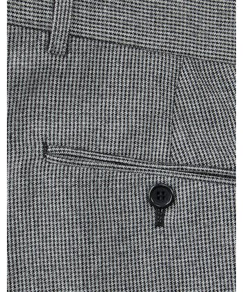 Flannel Trousers - Grey Dogtooth