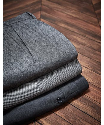 Flannel Trousers - Charcoal