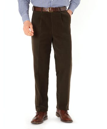 Moleskin Trousers - Brown