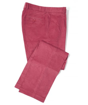 Needlecord Trousers - Pink