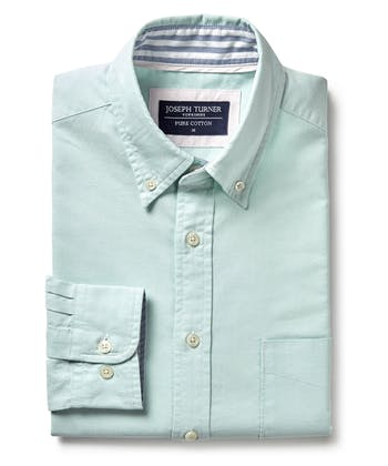 Plain Oxford Shirt - Aquamarine
