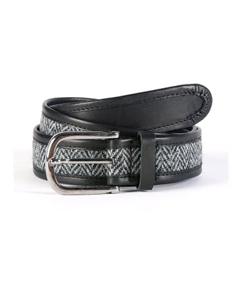 Harris Tweed Belt - Black/Grey