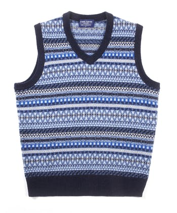 Fair Isle Slip-Over - Blue