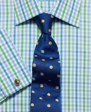 Blue/Green Gingham Check Shirt