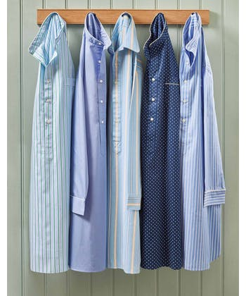 Nightshirt - Blue/Yellow Stripe (Brushed)