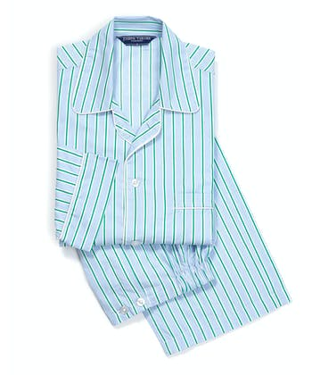 Pyjamas - Blue/Green Stripe (Fine)
