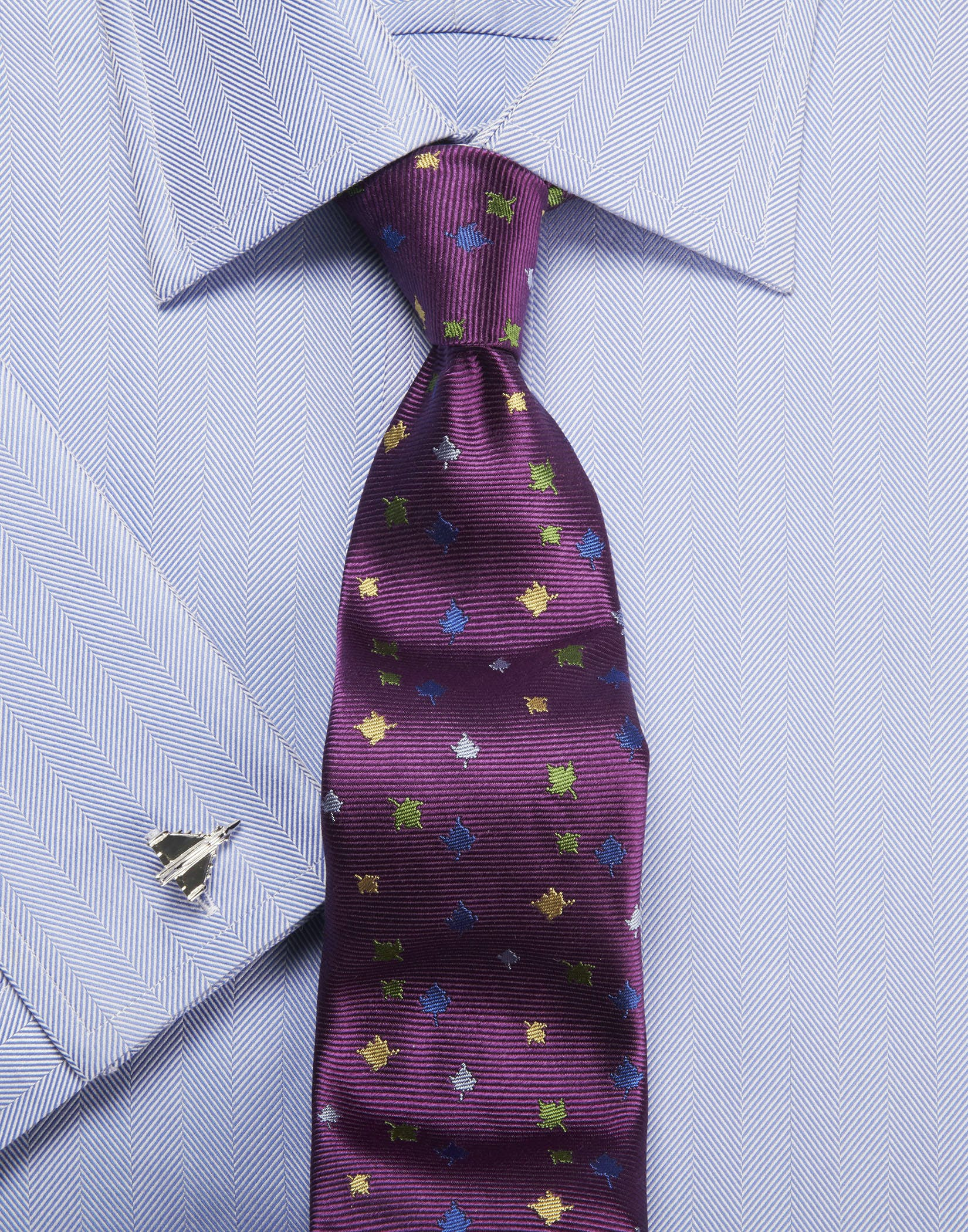 Click to view product details and reviews for Blue Herringbone Shirt.