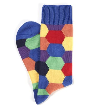 Hexagon Socks - Blue Hexagon