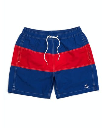 Swimming Trunks - Blue/Red