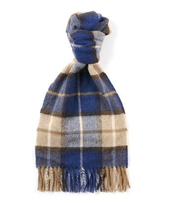 Lambswool Scarf - Blue/Stone