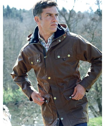 Bilton Wax Coat - Brown